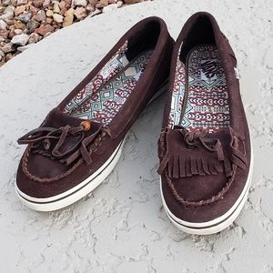 Vans suede loafers flats size 8